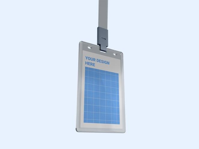 modelo de suporte de cartão de identificação vertical transparente