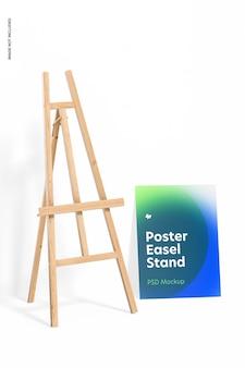 Modelo de suporte para cavalete de pôster, vista esquerda