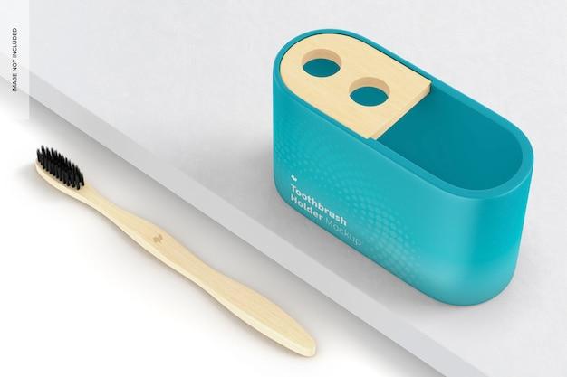 Modelo de suporte para escova de dentes, vista em perspectiva Psd grátis