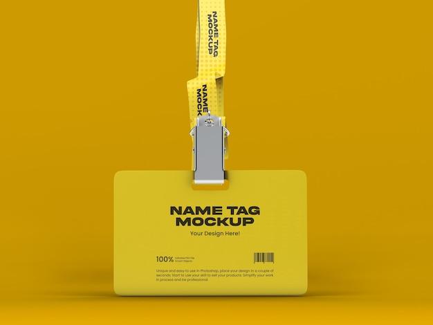 Modelo de tag de nome 13