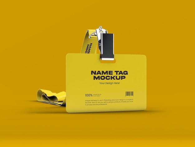 Modelo de tag de nome 14