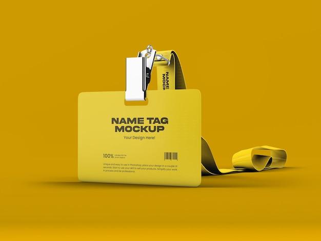 Modelo de tag de nome 15