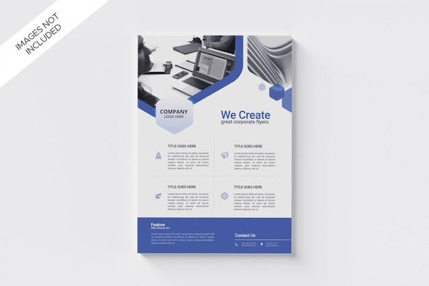Modelo de tamanho a4 de panfleto comercial