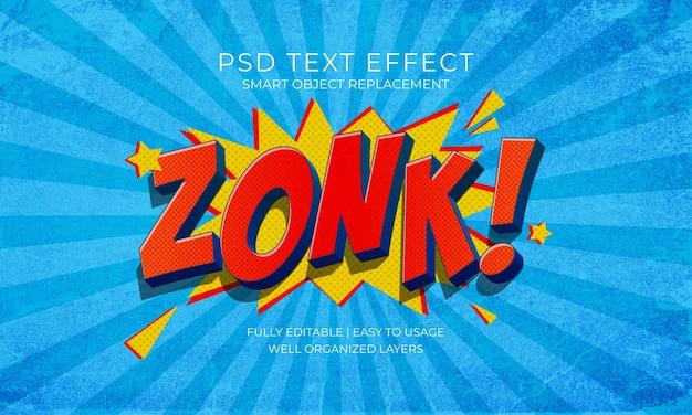 Modelo de texto de estilo de quadrinhos zonk