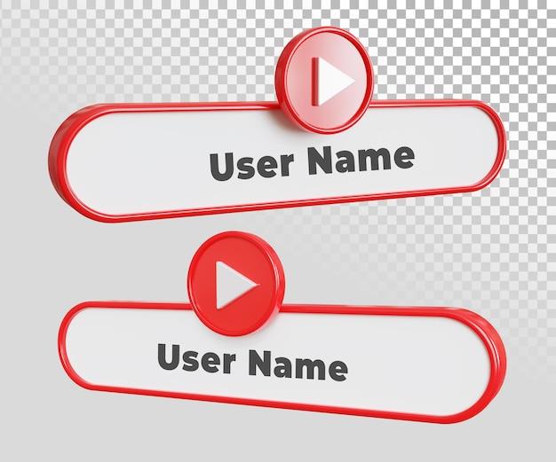 Modelo de texto de rótulo de nome de usuário do youtube