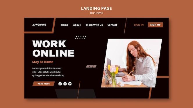 Modelo de trabalho a partir da página inicial