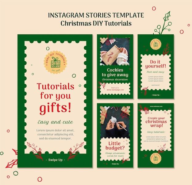 Modelo de tutorial de natal para você no instagram