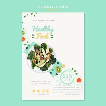 Modelo de vale alimentação saudável com foto