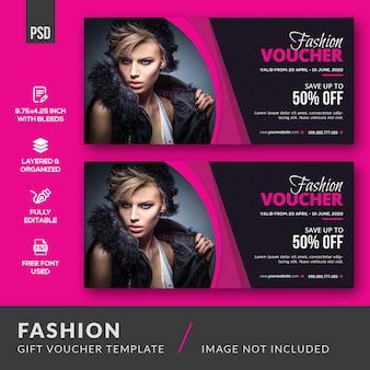 Modelo de vale-presente de moda