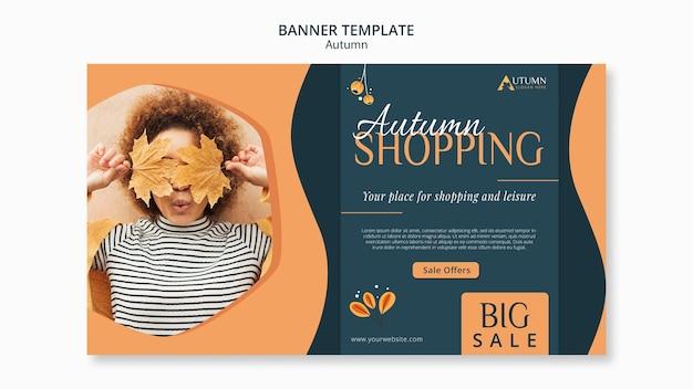 Modelo de venda de banner de outono