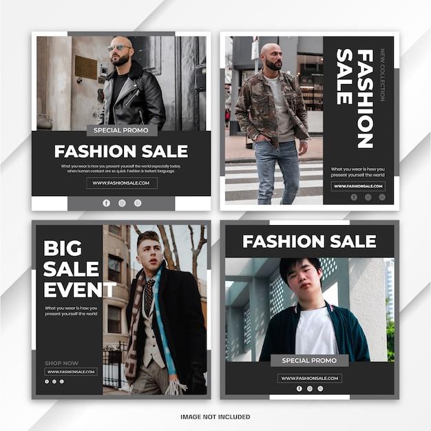 Modelo de venda - moda de pacote de postagem do instagram