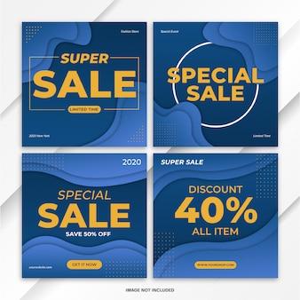 Modelo de venda super - pacote de postagem de feed do instagram