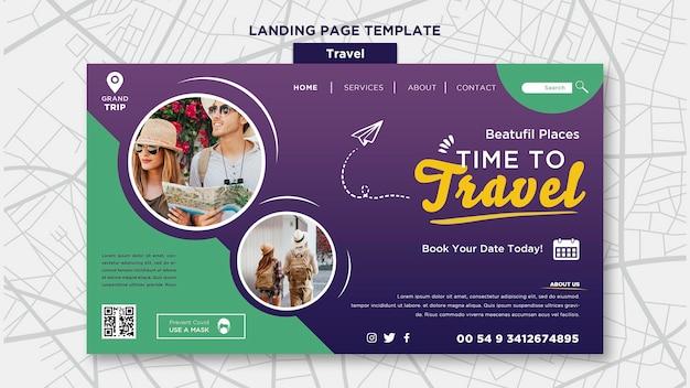 Modelo de viagem da web com foto