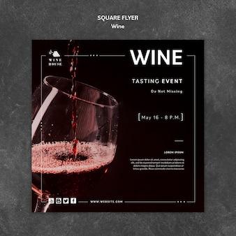Modelo de vinho para o conceito de panfleto