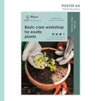 Modelo de viveiro de plantas em cartaz
