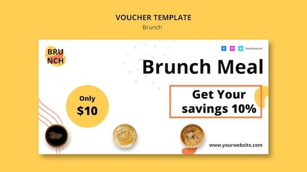 Modelo de voucher com conceito de brunch