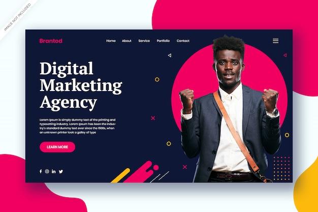 Modelo de web de agência de marketing digital