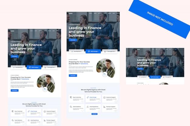 Modelo de web de agência digital de marketing seo
