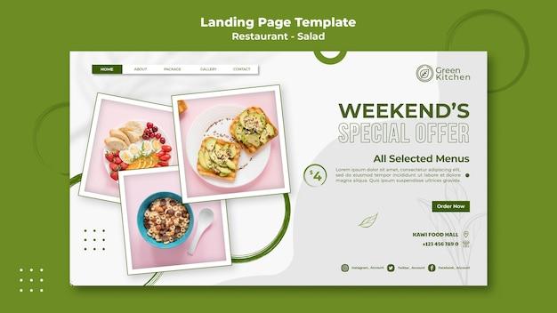 Modelo de web de comida saudável