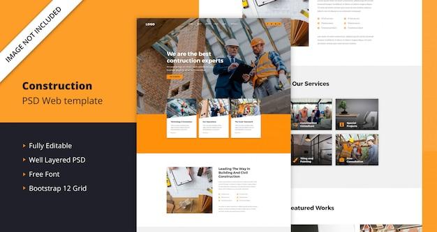 Modelo de web de construção