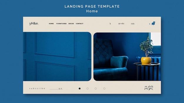 Modelo de web de decoração para casa