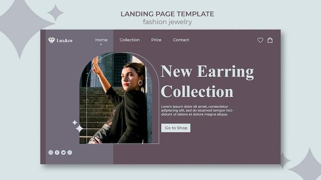 Modelo de web de joias de moda com foto