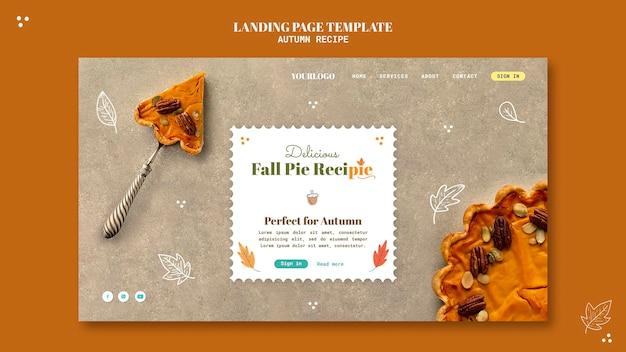 Modelo de web de receita de outono