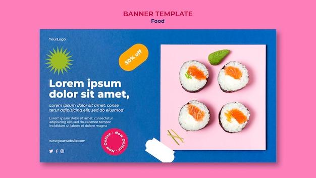 Modelo de web de sushi delicioso