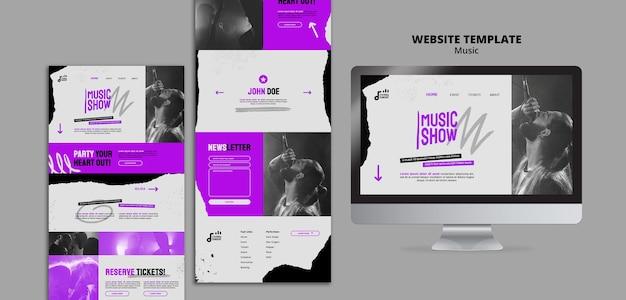 Modelo de web design de show de música