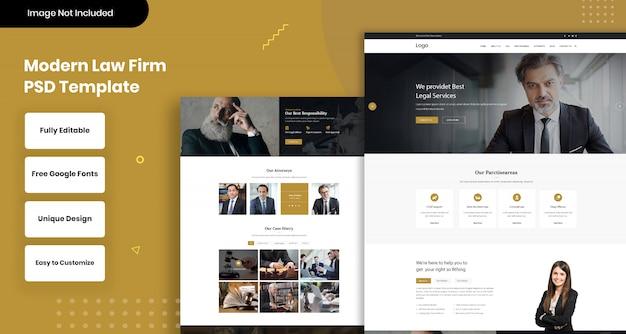 Modelo de web moderno escritório de advocacia