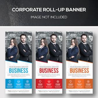 Modelo de xbanner de roll-up corporativo