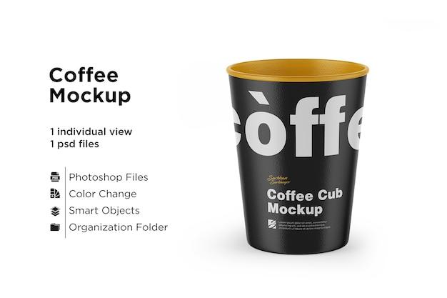 Modelo de xícara de café de papel