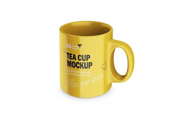 Modelo de xícara de chá ou café em porcelana 3d