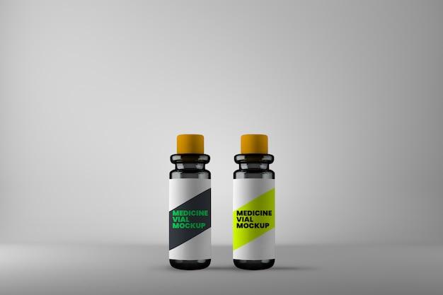 Modelo diferente de dois frascos de medicamentos homeopáticos