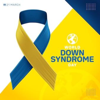Modelo do dia mundial da síndrome de down para postagem nas redes sociais