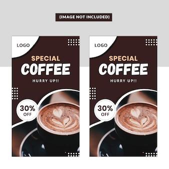 Modelo do instagram coffee story premium