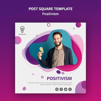Modelo do quadrado do post de conceito de positivismo