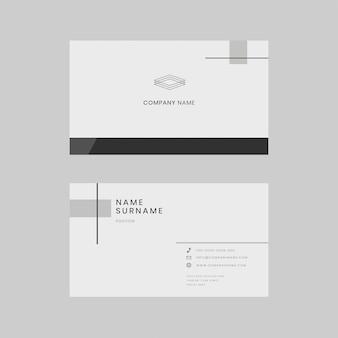 Modelo editável de cartão de visita psd