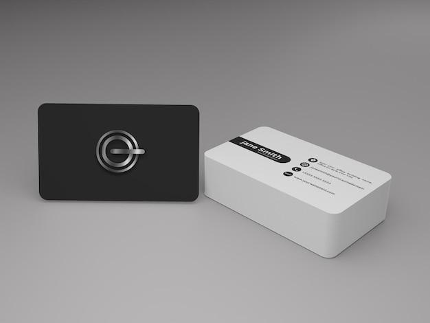 Modelo editável de maquete de cartão de visita
