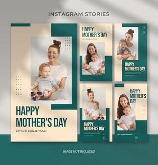 Modelo editável do dia das mães para banner de história de instagram de mídia social