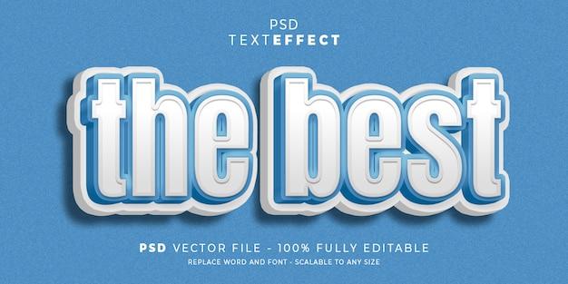 Modelo editável do estilo de efeito de texto e fonte