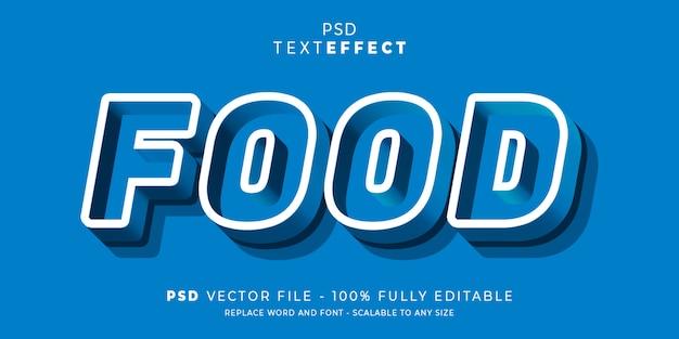 Modelo editável do estilo de texto e fonte de efeito