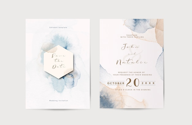 Modelo elegante de convite de casamento de noivado