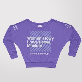 Modelo feminino flowy boxy tshirt