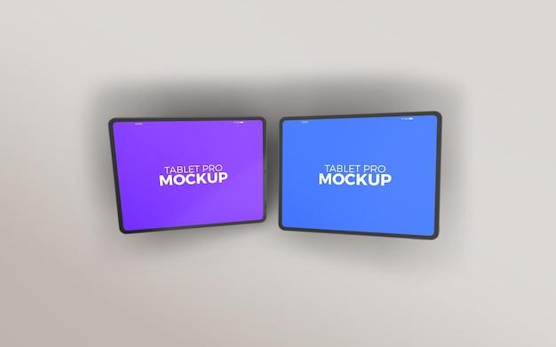 Modelo horizontal duplo grande para tablet profissional