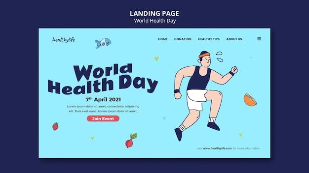 Modelo ilustrado da web para o dia mundial da saúde