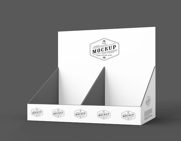Modelo minimalista de expositor cinza