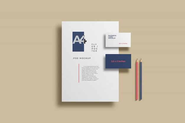 Modelo minimalista de papelaria
