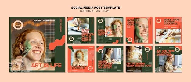Modelo nacional de postagens do dia da arte