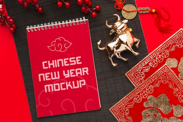 Modelo plano da maquete do ano novo chinês